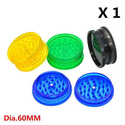 1 X Cheap Grinder 60MM 2 Layer Plastic Tobacco Grinder Spice Crusher Hand