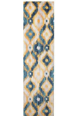 Hallway Runner Hall Runner Rug Modern Blue Mat Carpet New Non Shed FREE DELIVERY