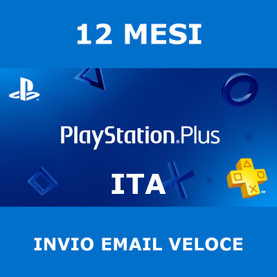 PS Plus 12 Mesi Abbonamento PS4 *NO CODICE* Playstation Online