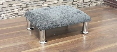 Valentin Large Square Footstool Seat in Chenille (9 colours!)