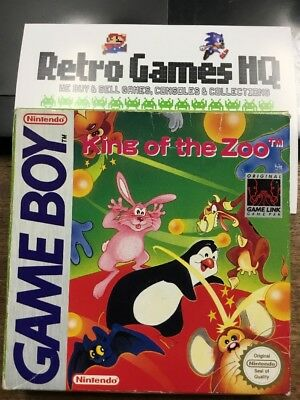 King Of The Zoo ~ Nintendo Game Boy ~ Fast Disp 1St Rec P+P ~See Our Retro Shop!