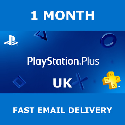 1 Month PlayStation PS Plus PS4-PS3-Vita ** NO CODE **