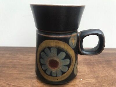 Denby Arabesque Coffee Cup, Denby Pottery , 1960's Vintage Pottery Replacement