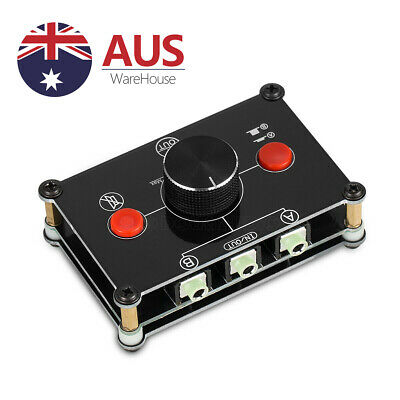 2 PORT 3.5mm STEREO Manual Sharing  Switch AUX Audio Speaker Selector Splitter