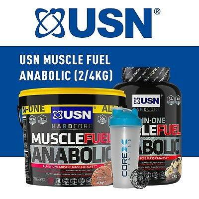 USN Muscle Fuel Anabolic All-In-One Lean Muscle Builder 2kg 4kg 5.3kg