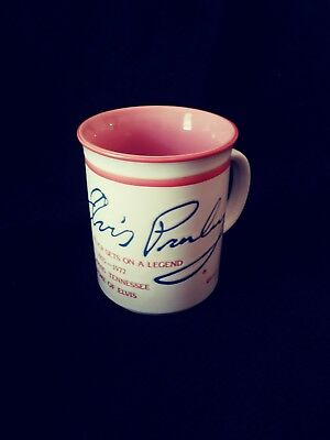 Elvis Presley Signature Coffee/tea/mug/cup Rose Colored And Off White!