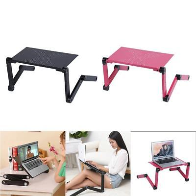 Adjustable Foldable Laptop Notebook Computer Desk Table Stand Portable Bed Tray
