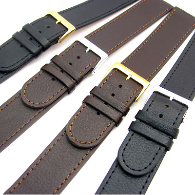 Super long XXL Genuine Leather Watch Strap 16mm to 24mm Black or Brown C023