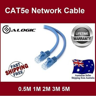 ALOGIC 0.5M 1M 2M 3M 5M RJ45 Ethernet Network Lan CAT5e Cable Lifetime Warranty