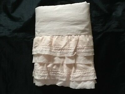 Pottery Barn Kids Organic Sadie Ruffle Crib Skirt Blush New