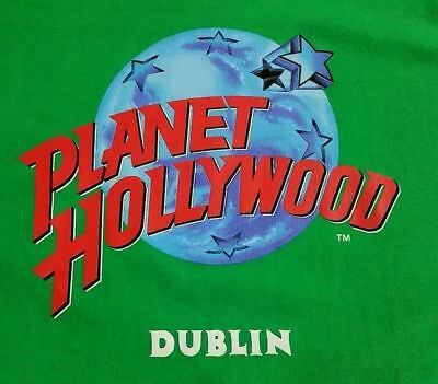 Vintage Planet Hollywood DUBLIN Ireland T Shirt Mens Size XL Rare 90's DEADSTOCK