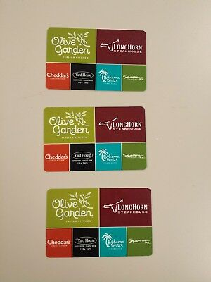 $30 Olive Garden Gift Card - Three $10 Cards