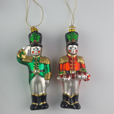Partylite Toy Soldier Pair Christmas Tree Hanging Ornament