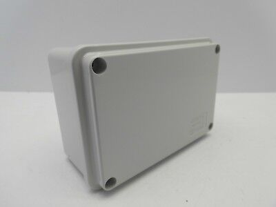 GEWISS GW44205 120x80x50mm ENCLOSURE JUNCTION BOX PLASTIC WATERPROOF IP56 GREY