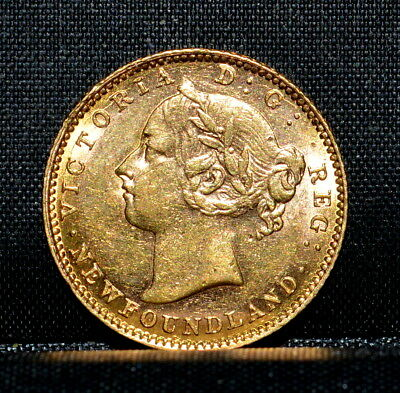Newfoundland 1882 $2 Gold Piece ✪ Unc Details ✪ Cleaned Canada 100P ◢Trusted◣