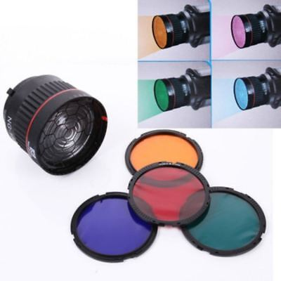Professional focusing lens Bowen Mount with 4 color filter for  LED for Flash st