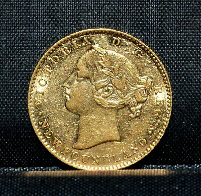 Newfoundland 1865 $2 Gold Piece ✪ Unc Details ✪ Cleaned Canada 100P ◢Trusted◣