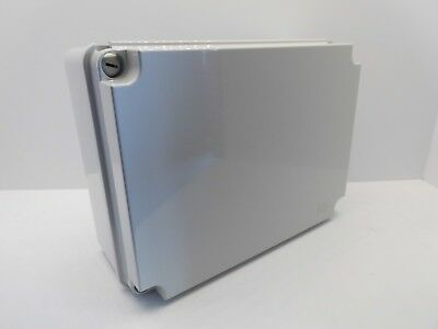 GEWISS GW44209 300x220x120mm ENCLOSURE JUNCTION BOX PLASTIC WATERPROOF IP56 GREY