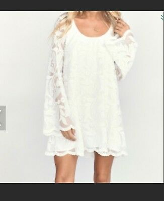 516bc648fcb2 Show Me Your MuMu NWT $234 Fannie Flow Dress Field Of Lace White Size Medium