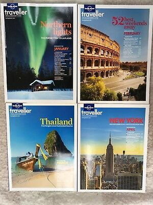 2013 Lonely Planet Traveller Magazines January-April issue 49-52
