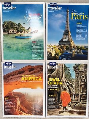 2013 Lonely Planet Traveller Magazines May - August Issue 53- 56