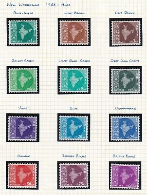Commonwealth. India  FOUR  PAGES. 1958-60 issues. Mint/MLH.
