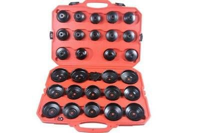 BERGEN 30 Piece Cup Type Oil Filter Wrench Set Tool Adapter
