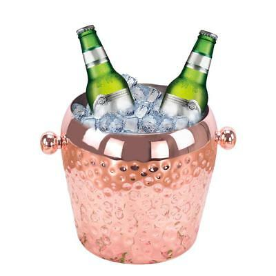 Metal Ice Bucket 1L Copper Plating Single-Layer Bar Stainless Steel Wine Barrel
