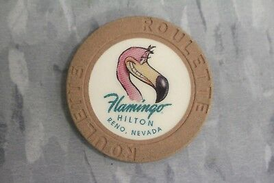 20 Old Paulson Chocolate  Flamingo Hilton Reno , NV,Roulette Casino Poker Chips