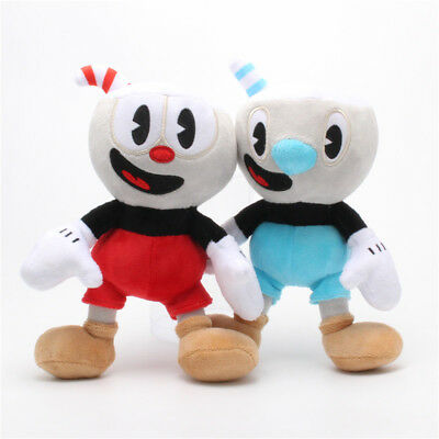 10 Inch Cuphead Game Plush Toy Cuphead & Mugman Mecup And Brocup Figure Doll Toy
