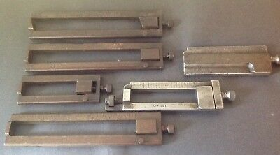 Six (6) Ludlow Composing and Casting Sticks - 6 PT-LP and OFF SET Misc. - Used