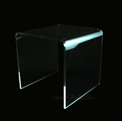 """Acrylic Clear Square Riser Display Stand 4 x 4 x 4"""""""
