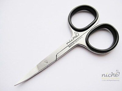 SUPER SHARP HIGH QUALITY Stainless Steel CURVED Edge NAIL SCISSORS