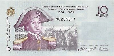 Haiti 10 Gourdes 2014,P.272 Independence Commemorative 200 Yrs Uncirculated Unc