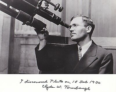 SALE!!  Clyde Tombaugh Discoverer of the 9th Planet, Pluto at Telescope