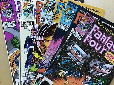 John Byrne Fantastic Four Lot #4 Includes 10 Issues, Return Of Jean Grey!!