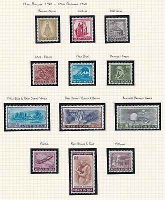 Commonwealth. India.  FOUR PAGES. 1965-68 issues. Mint and MNH.