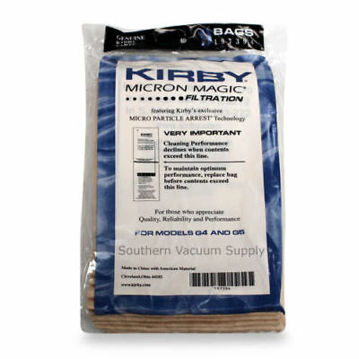 9 Genuine Kirby Micron Magic Vacuum Bags for Models G4 and G5 #197394