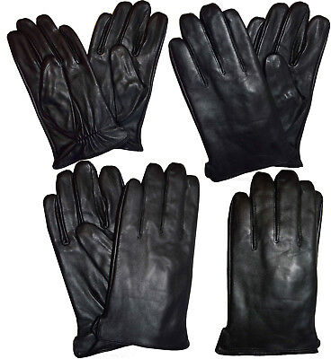 Men's leather gloves New dressy Italian styled Warm winter leather gloves BNWT