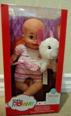Fisher Price Little Mommy Cuddle And Care Baby Doll & Bunny Flb46 *new*
