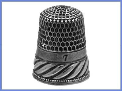 Antique Sterling Silver Thimble with 'Chased Rope' Design *C.1890s