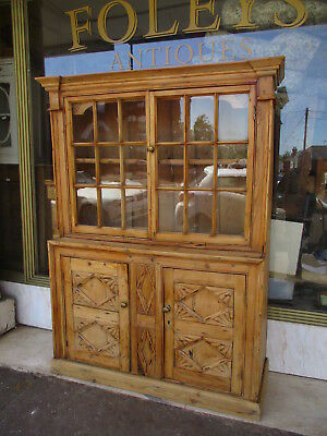 Early Antique Pine Dresser / Georgian Or Victorian Pine Glazed DresserSALE!SALE!