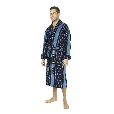 03051d343d5 MENS WOLSEY Checked Design Brushed Cotton Bath Robe Dressing Gown ...