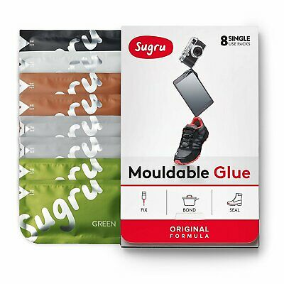 Sugru Mouldable Glue - It turns into rubber‎ - 8 Pack [Natural Colours]