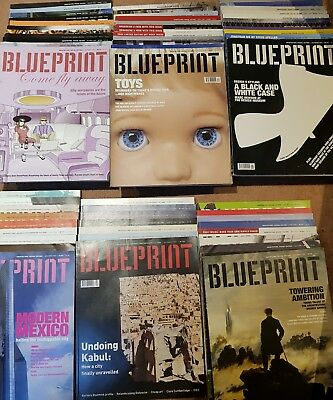 Blueprint Design & Architecture Magazine - 2001 to 2006 from large collection