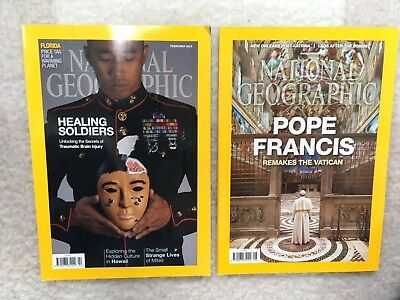 National Geographic Magazines From 2015 and 2016