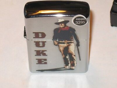 New Windproof Flame ZIPPO USA Lighter JW John Wayne Duke Walking Tall wit Rifle