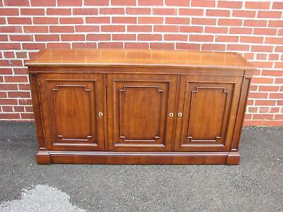 Kindel Cherry Sideboard Credenza Buffet With Silver Insert