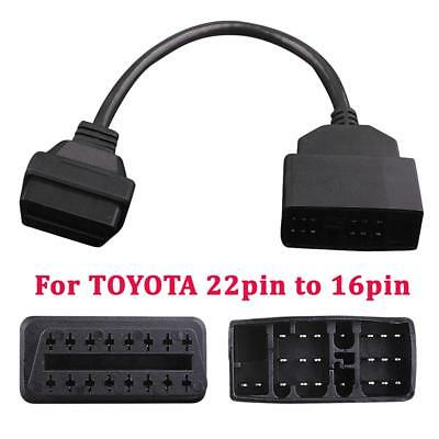 AU Ship Auto Car 22 Pin OBD1 to 16 Pin OBD2 Convertor Adapter Cable For TOYOTA