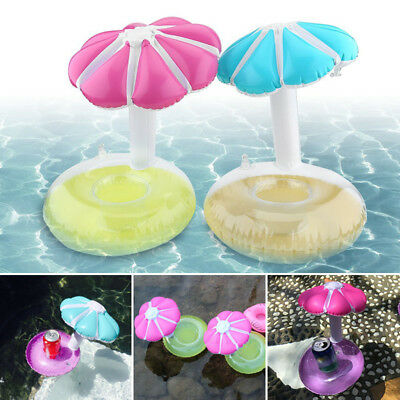 NEW Inflatable Drink Can Holder PVC Floating Umbrella Swimming Pool Beach Party